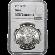 1885-CC Ngc MS65 Morgan Dollar