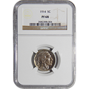 1914 Ngc PF68 Buffalo Nickel