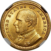 1903 Ngc/Cac MS65 $1 Louisiana Purchase, McKinley Gold