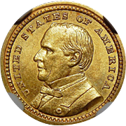 1903 Ngc MS64 $1 Louisiana Purchase, McKinley Gold
