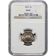 1879 Ngc PF67 Shield Nickel