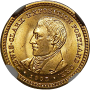 1905 Ngc MS66 $1 Lewis and Clark Gold