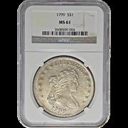 1799 Ngc MS61 Draped Bust Dollar