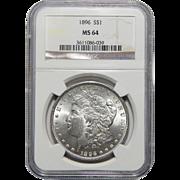 1896 Ngc MS64 Morgan Dollar