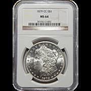 1879-CC Ngc MS64 Morgan Dollar