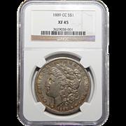1889-CC Ngc XF45 Morgan Dollar