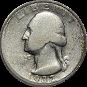 1932-D Icg AG3 Washington Quarter
