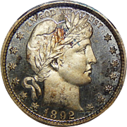 1892 Ngc PF68CAM Barber Quarter