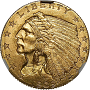 1909 Ngc MS65 $2.50 Indian Gold