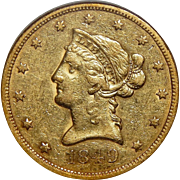 1849 Ngc VF35 $10 Liberty Head Gold