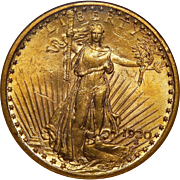 1920 Ngc MS62 $20 St. Gaudens Gold