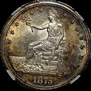 1875-S Ngc MS63 Trade Dollar