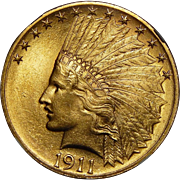 1911 Ngc MS65 $10 Indian Gold