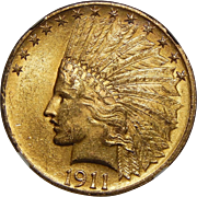 1911 Ngc MS63 $10 Indian Gold