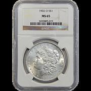 1902-O Ngc MS65 Morgan Dollar