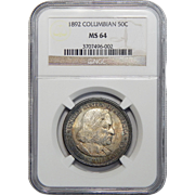 1892 Ngc MS64 Columbian Half Dollar