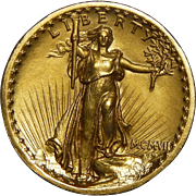 1907 Ngc PR65 $20 High Relief - Wire Rim St. Gaudens Gold