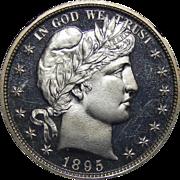 1895 Ngc PF67 Ultra Cameo Barber Half Dollar