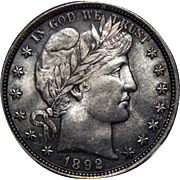 1892 Ngc MS64 Barber Half Dollar