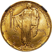1926 Ngc MS65 $2.50 Sesquicentennial Gold