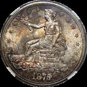 1875-S Ngc MS64 Trade Dollar