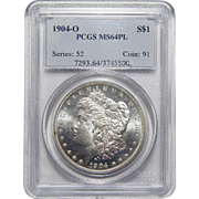 1904-O Pcgs MS64PL Morgan Dollar