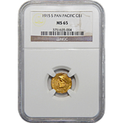 1915-S Ngc MS65 $1 Panama-Pacific Gold