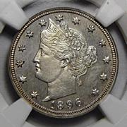 1896 Ngc PF64 Liberty Nickel