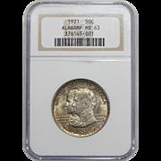 1921 Ngc MS63 Alabama Half Dollar