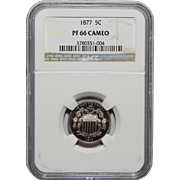 1877 Ngc PF66CAM Shield Nickel