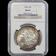 1900 Ngc MS63 Morgan Dollar