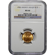 1926 Ngc MS66 $2.50 Sesquicentennial Gold
