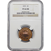 1872 Ngc PF66RB Two-Cent
