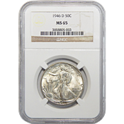 1946-D Ngc MS65 Walking Liberty Half Dollar