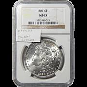 1886 Ngc MS63 Vam-17 (Doubled Arrow) Morgan Dollar