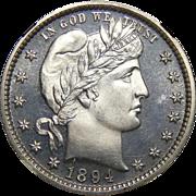 1894 Ngc PF66CAM Barber Quarter