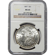 1897 Ngc MS65 Morgan Dollar