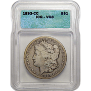 1893-CC Icg VG8 Morgan Dollar