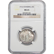 1916 Ngc MS65 Standing Liberty Quarter