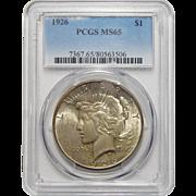 1927 Ngc MS64 Peace Dollar