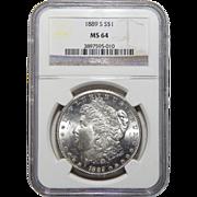 1889-S Ngc MS64 Morgan Dollar
