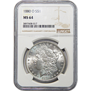 1880-O Ngc MS64 Morgan Dollar