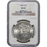 1889-S Ngc MS62 Morgan Dollar