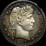 1901 Ngc PR67+ Barber Quarter