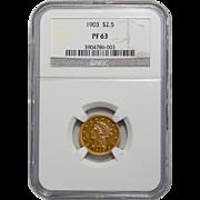 1903 Ngc PF63 $2.50 Liberty Head Gold