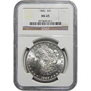 1882 Ngc MS65 Morgan Dollar