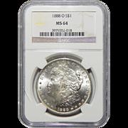 1888-O Ngc MS64 Morgan Dollar