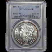 1891-CC Pcgs MS63PL Morgan Dollar