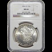 1884-CC Ngc MS66 Morgan Dollar