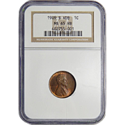 1909-S VDB Ngc MS65RB Lincoln Wheat Cent